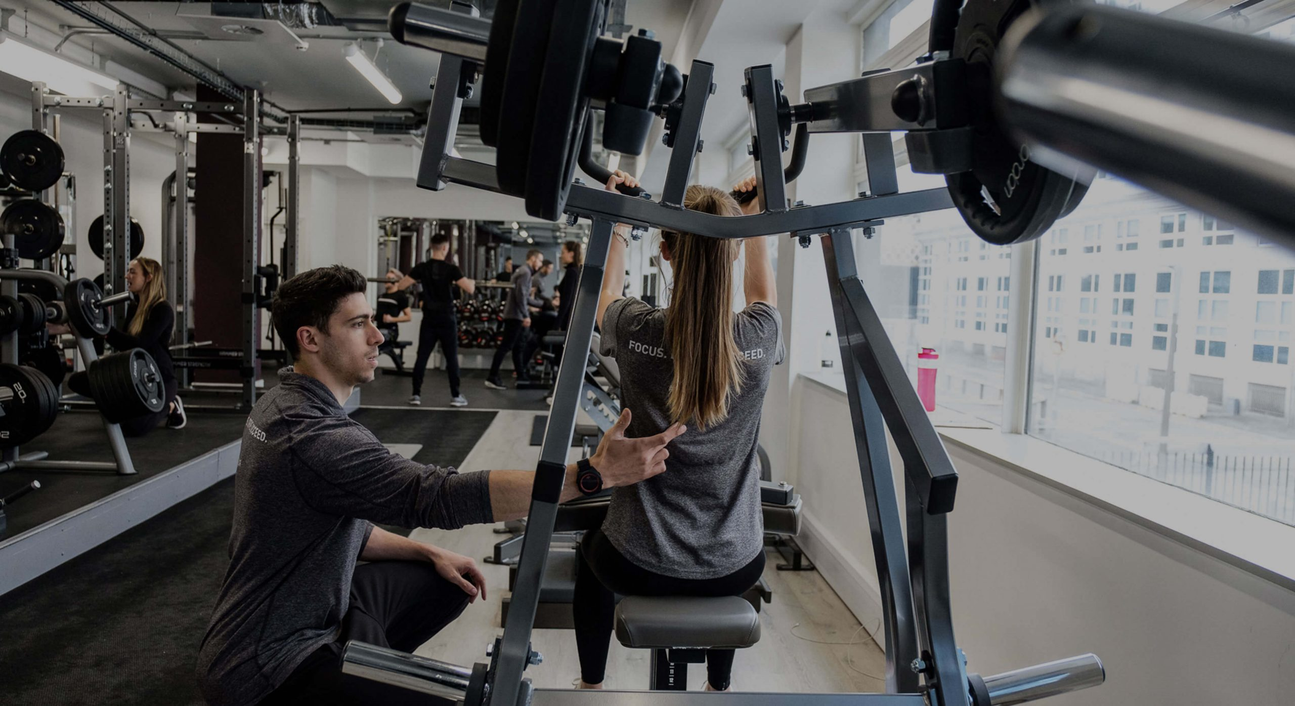 personal training gym manchester - ben wood with client